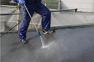 ガイソー大分 外壁塗装の下地処理 バイオ洗浄